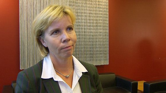 "Anna-Maja Henriksson, Minister of Justice."" [Image: Yle]"